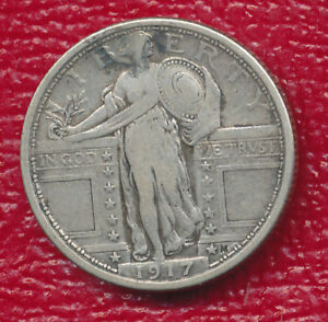 1917 TYPE I STANDING LIBERTY SILVER QUARTER   NICE TONING