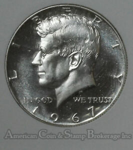 50C HALF DOLLAR 1967 SUPERB GEM BU  CAM SMS JFK KENNEDY BRIGHT WELL STRUCK