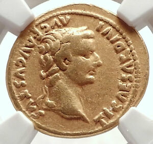 Click now to see the BUY IT NOW Price! TIBERIUS AUTHENTIC ANCIENT 15AD GOLD ROMAN COIN LIVIA NGC CERTIFIED VF I71693