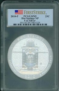 Click now to see the BUY IT NOW Price! 2010 P HOT SPRINGS ATB AMERICA BEAUTIFUL 5 OZ SILVER PCGS SP69 FIRST STRIKE FS