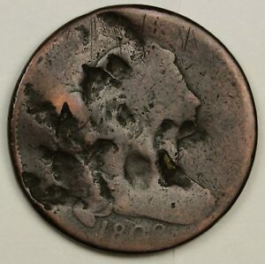 1808 LARGE CENT.  CIRCULATED.  130281