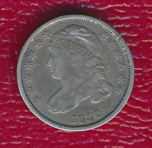 1830 CAPPED BUST SILVER DIME   TONING HIGHLIGHTS FEATURES
