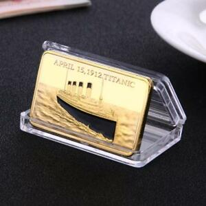 ZINC ALLOY GOLD PLATED TITANIC NON CURRENCY BITCOIN COMMEMORATIVE ART COLLECTION