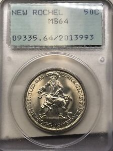 1938 NEW ROCHELLE CLASSIC COMMEMORATIVE PCGS MS64 RATTLER/OGH  Q4B3