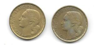 LOT OF 2 FRANCE/FRENCH 50 FRANCS COINS   CNS 1089