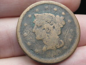 1843 1857 BRAIDED HAIR LARGE CENT PENNY