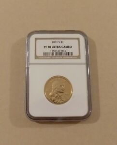 2001 S $1 SACAGAWEA NATIVE AMERICAN DOLLAR NGC PF70 ULTRA CAMEO   ONE DOLLAR
