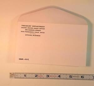 COIN SUPPLIES 1969 US UNC. MINT SET ENVELOPE NEW SLIGHT GLUE FLAW FREE US SHIP