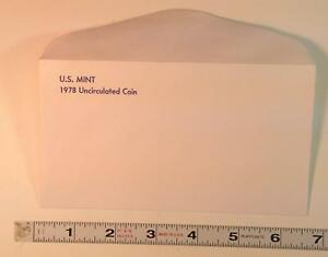 COIN SUPPLIES  1978 US UNC. MINT SET ENVELOPE NEW SLIGHT GLUE FLAW FREE US SHIP