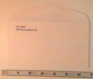 COIN SUPPLIES  1979 US UNC. MINT SET ENVELOPE NEW SLIGHT GLUE FLAW FREE US SHIP