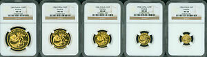 Click now to see the BUY IT NOW Price! 1984  5 COINS GOLD SET 100Y 50Y 25Y 10Y 5Y YUAN PANDA NGC MS68 CHINA MS 68