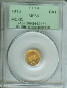 Click now to see the BUY IT NOW Price! 1916 G$1 GOLD COMMEMORATIVE DOLLAR $1 MCKINLEY PCGS MS66 OLD GREEN HOLDER OGH