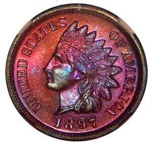 Click now to see the BUY IT NOW Price! 1897 1C NGC PR 66 RB   COLORFUL HIGH GRADE PROOF INDIAN CENT