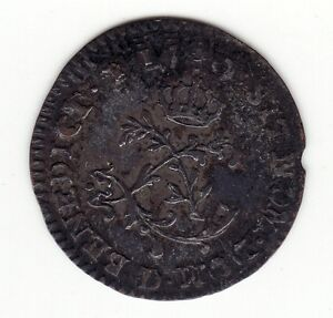 FRENCH COLONIAL 1740 D DOUBLE STRUCK HALF SOUS MARQUES VLACK 300 R1