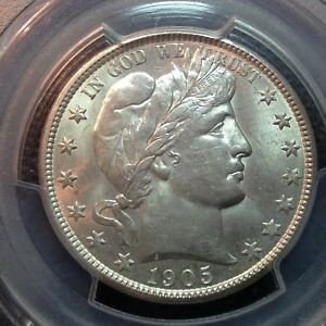 Click now to see the BUY IT NOW Price! PCGS  MS 62 1905 O  BARBER HALF DOLLAR  TOUGH DATE  PCGS GUIDE $2000