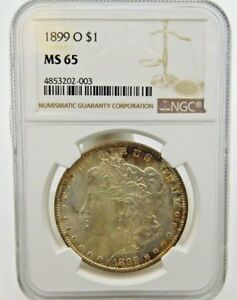 1899 O MORGAN SILVER DOLLAR   NGC MS 65