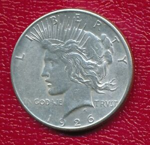 1926 S PEACE SILVER DOLLAR   ABOUT UNCIRCULATED