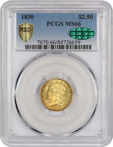Click now to see the BUY IT NOW Price! 1830 2 1/2 PCGS/CAC MS66   2.50 EARLY GOLD COIN   WOW  AMAZING GRADE RARITY
