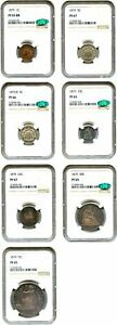 Click now to see the BUY IT NOW Price! 1879 PR SET NGC/CAC PR 65 67  7 COINS  DESIRABLE PROOF TRADE DOLLAR