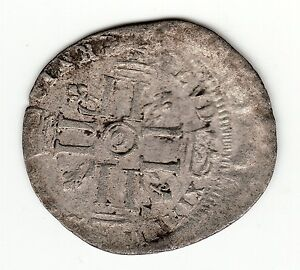 FRENCH COLONIAL 1690'S O RECOINED BILLON SOL WITH DOUBLE STRUCK