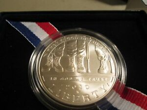 2010  DISABLED VETERANS  SILVER UNCIRCULATED COMMEMORATIVE. $1  VET2
