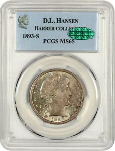 Click now to see the BUY IT NOW Price! 1893 S 50C PCGS/CAC MS65    DATE   BARBER HALF DOLLAR    DATE