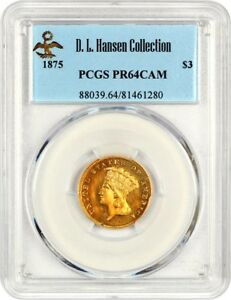 Click now to see the BUY IT NOW Price! 1875 $3 PCGS PR 64 CAM   3 PRINCESS GOLD COIN    PROOF ISSUE