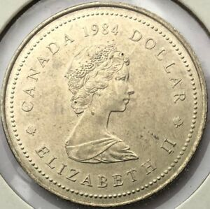 1984 CANADA 1 DOLLAR   JACQUES CARTIER COMMEMORATIVE 450 YEARS   AU50 CONDITION