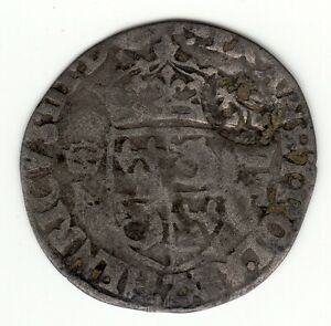 HENRI III 1570'S Z BILLON DOUZAIN WITH 1640 LIS C/M FOR 15 DENIERS VLACK 1I R6
