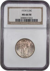 1928 S 25C NGC MS66 FH   BETTER DATE WITH FULL HEAD