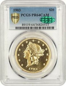 Click now to see the BUY IT NOW Price! 1903 $20 PCGS/CAC PR 64 CAM   LIBERTY DOUBLE EAGLE   GOLD COIN