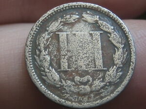1866 THREE 3 CENT NICKEL  OLD TYPE COIN