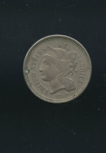 1866 USA 3 CENTS NICKEL   LIBERTY H106