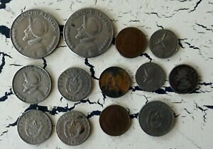 WORLD COINS FROM PANAMA LOT FOREIGN