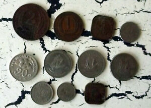WORLD COINS FROM EASTERN CARIBBEAN STATES BORNEO CEYLON LOT FOREIGN