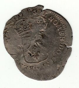 DOUBLE STRUCK 1690'S RECOINED BILLON SOL WITH RESIDUAL 1640 LIS C/M