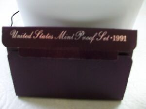 1991 UNITED STATES MINT PROOF SET   WITH ORIGINAL PACKAGING AND COA