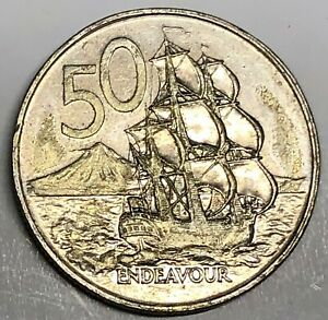 C8223     NEW ZEALAND    COIN    50  CENTS     1978