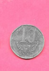 COSTA RICA KM215.1 1983 VF VERY FINE NICE LARGE OLDER 10 COLONES