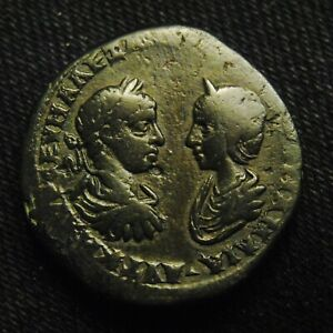 Click now to see the BUY IT NOW Price! 27 MARKIANOPOLIS SEVERUS ALEXANDER & JULIA MAMAEA RV ZEUS 12.29 GRAMS 26 7MM