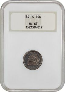 Click now to see the BUY IT NOW Price! 1841 O 10C NGC MS67  OH    LIBERTY SEATED DIME   FINEST KNOWN BY FAR