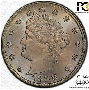 Click now to see the BUY IT NOW Price! 1888 5C PCGS MS 65 CAC DBL DIE OBV FS 101   NEAT LIBERTY NICKEL VARIETY