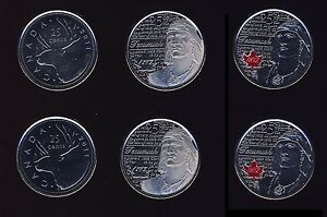 6 COINS 25 CENT MINT  FROM NEW BANK ROLL 2011 2012