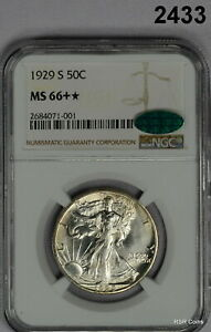 Click now to see the BUY IT NOW Price! 1929 S WALKING LIBERTY HALF DOLLAR NGC CERTIFIED  MS66   CAC BLAZING LUSTER2433