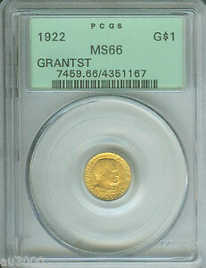 Click now to see the BUY IT NOW Price! 1922 G$1 GRANT STAR   COMMEMORATIVE GOLD DOLLAR PCGS MS66 OGH OLD GREEN HOLDER