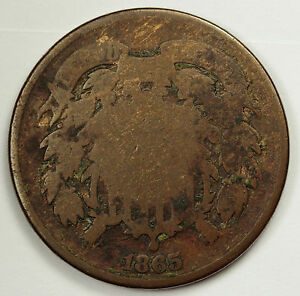 1865 TWO CENT PIECE.  GOOD.  83678