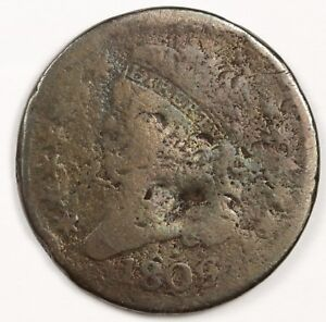 1809 HALF CENT.  CIRCULATED. 120240