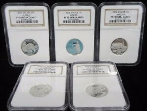 Click now to see the BUY IT NOW Price! 2008 S SILVER QUARTER PROOF SET NGC PF70 ULTRA CAMEO 5 COIN SET  POPULAR HAWAII