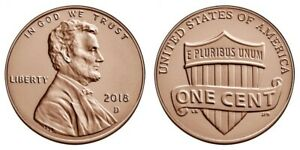 2018 D LINCOLN SHIELD PENNY BRILLIANT UNCIRCULATED GEM CENT FULL OF LUSTER BOGO