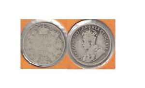 1912 CANADA KING GEORGE V SILVER 10 CENT COIN IN GOOD CONDITION